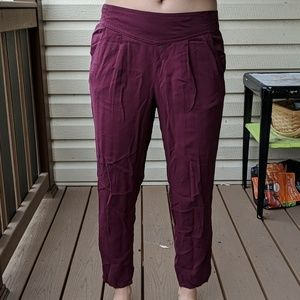 Free People Maroon Soft Pants Size Small